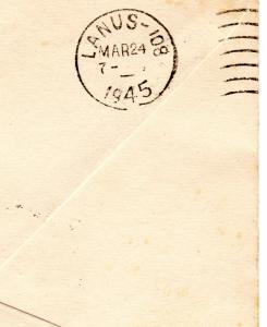 Argentina 1945 Letter send from Orcadas del Sur Islands to Buenos Aires