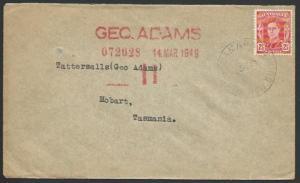 PAPUA NEW GUINEA 1949 cover Australia franking SAMARAI cds.................12583