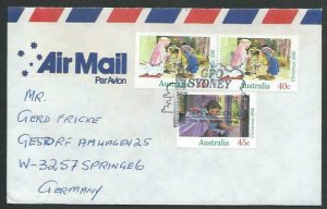 AUSTRALIA 1993 cover to Germany - nice franking - Sydney pictorial pmk.....12831