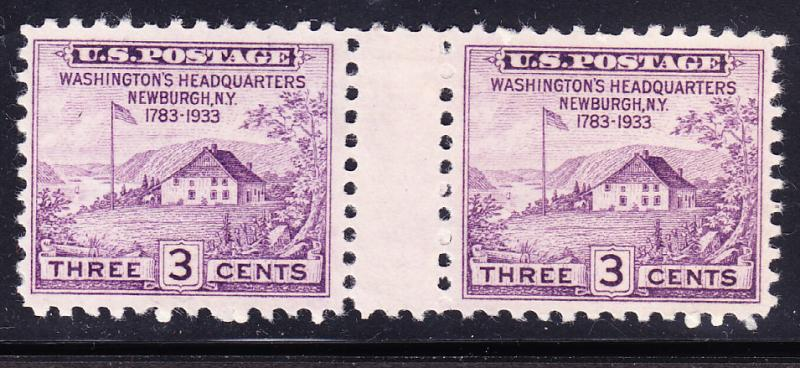 United States Nr.727 Newburgh Gutter Pair VF/Mint(*)
