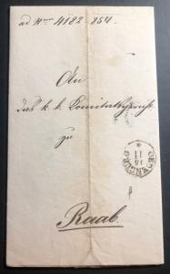 1854 Sopron Ödenburg Austria Hungary Empire Letter Cover To Raab