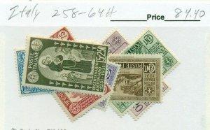 ITALY #258-64, Mint Hinged, Scott $84.40