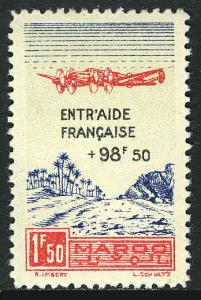 French Morocco CB23A, MNH. Plane over Oasis, 1944