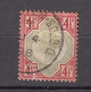 J27530 1887-92 great britain used #117 queen $45.00 scv