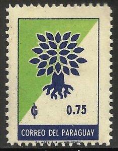 Paraguay 1961 Scott# 622 MH