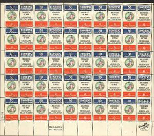 US #1421-22 Mint Sheet Disabled Veterans