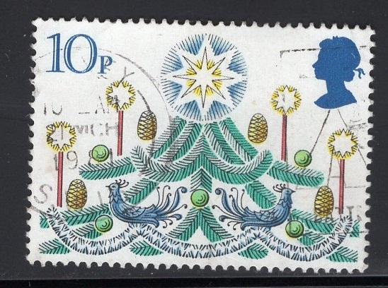 Great Britain  #928  used  1980  Christmas  10p