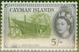 Cayman Islands 1955 5s Olive-Green & Slate-Violet SG160 V.F MNH