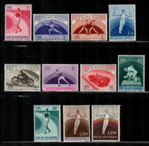 San Marino #345-355  MNH  Scott $75.00