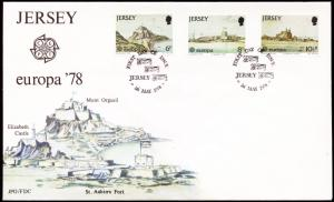 JERSEY 1978 Europa First Day Cover