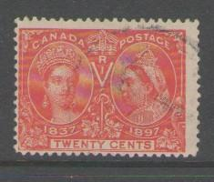 Canada Sc 59 1897 20c Victoria Jubilee stamp used