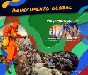 MOZAMBIQUE - 2019 - Global Warming - Perf Souv Sheet - MNH