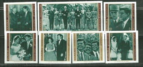 Manama MNH Set John F. Kennedy 1971 Imperfs. Complete Set