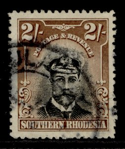 SOUTHERN RHODESIA GV SG12, 2s black and brown, USED. Cat £20.