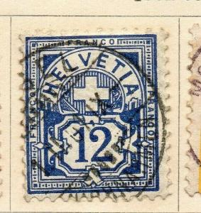 Switzerland 1882-98 Early Issue Fine Used 12c. 321727
