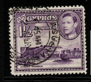 CYPRUS SG155a 1943 1½pi VIOLET FINE USED