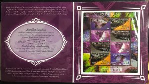 Indonesia 1767A-1767Ab MNH S/S 1998 Minerals + Opal Presentation Packs