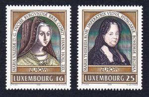Luxembourg Famous Women 2v SG#1423-1424 SC#944-945