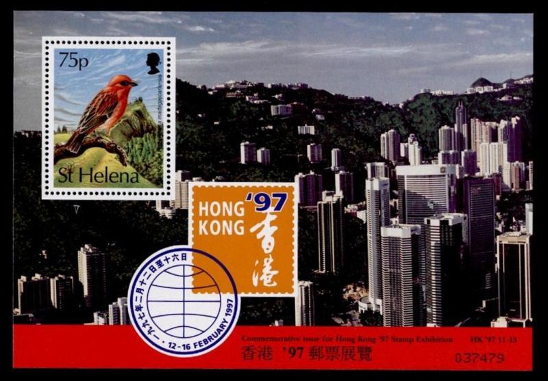 St Helena 607a MNH Birdm Hong Kong '97 Exhibition