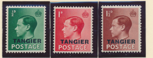 Great Britain, Offices In Morocco/Tangier Stamps Scott #511 To 513, Mint Hing...