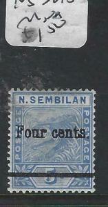 MALAYA NEGRI SEMBILAN  (P1704B)  TIGER  4C/8C  SG 18  MNH