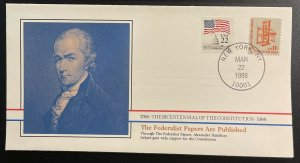US #1593,2115 On Cover - Bicentennial of Constitution 1787-1987 [BIC53]