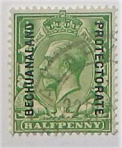 Bechuanaland 83. 1913 1/2p Green KGV, used