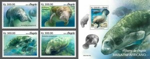 Z08 IMPERF ANG190210ab Angola 2019 Manatee MNH ** Postfrisch