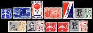 US. #C52-62 Commemorative Airmail Issues - OGNH - VF - CV$12.20 (ESP#0807)