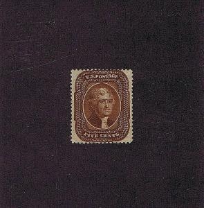 SC# 30 UNUSED ORIG GUM PREV HINGED 5C JEFFERSON 1861, 2019 PF CERT, HIGH CAT VAL