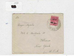 Brazil 1931 stamp  cover Ref 9030