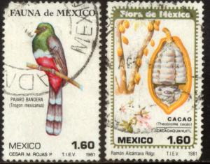 MEXICO 1236-1237, Flora and Fauna. Used. (859)
