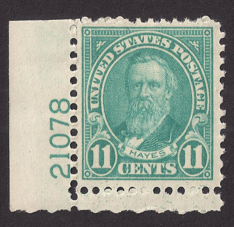 US: 11c Hayes Scott #692 Mint NH pl # single SCARCE # 21078