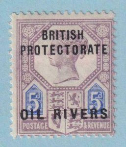 NIGER COAST - OIL RIVERS 5  MINT HINGED OG * NO FAULTS VERY FINE !