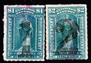 US STAMP #R190,1 $1, 2 Revenue 1902 Documentary Stamp