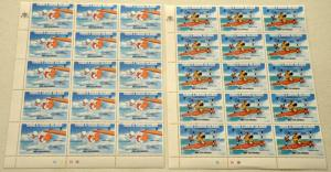 2 TURKS & CAICOS ISLANDS DISNEY Topical Stamps Postage Blocks Collection MNH