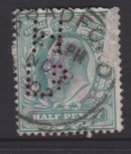 Great Britain Sc#127 Used - Perfin HLd