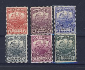 6x Newfoundland Caribou M stamps #116-118-119-120-121-122 Guide Value = $145.00