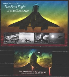 Saint Vincent and the Grenadines. 2013. 4865-68, bl682. Aviation Concorde. MNH.