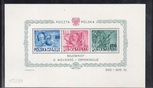 Poland #C26cd XF/NH Souvenir Sheet
