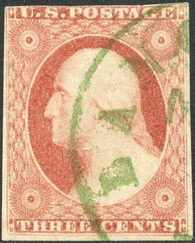#11 VF USED WITH GREEN CANCEL CV $140.00 BP1934
