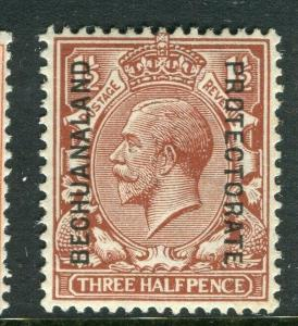 BECHUANALAND; 1913 early GV issue fine Mint hinged Shade of 1.5d. value