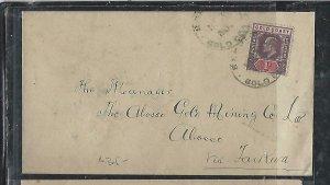 GOLD COAST (P2708B)  1904   KE  1D COVER TO  OBOSSO