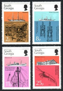 South Georgia 44-47, MNH. Biological investigations of the Discovery, 1976