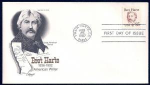 UNITED STATES FDC $5 Bret Harte 1987 Artmaster