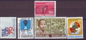 J21088 Jlstamps 1979 indonesia mh #1079a,1055,1059,1062,1063 designs