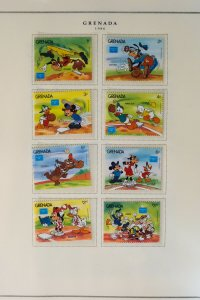 Grenada Mint NH 1980s Disney Stamp Collection