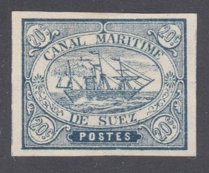 EGYPT SUEZ CANAL 1860s local - an old forgery of this classic issue.........D411