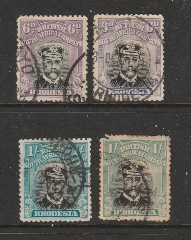 Rhodesia x 4 used higher value KGV