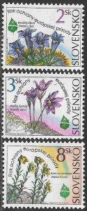SLOVAKIA 1995 European Nature Conservation Year Set Sc 205-207 MNH